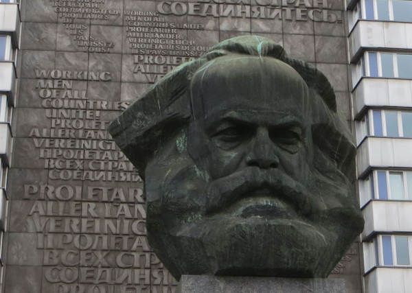 Das Karl Marx Monument in Chemnitz