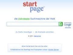 Starpage Suchmaschine Screenshot